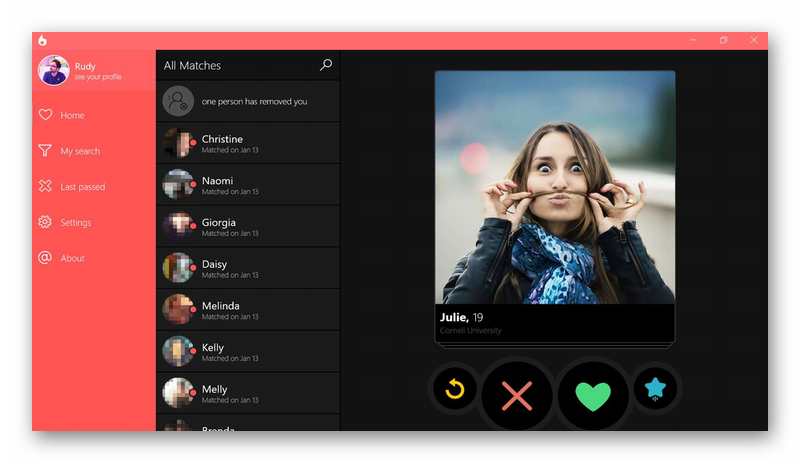 tinder для windows phone