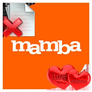 Удаление анкеты в Mamba logo