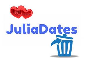 Как удалить анкету на сайте знакомств JuliaDates?